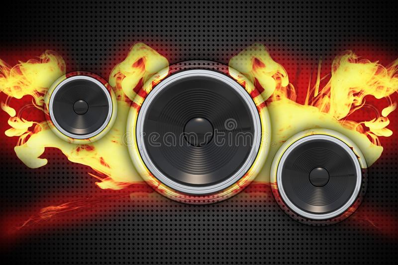 Fire Speakers Stock Images