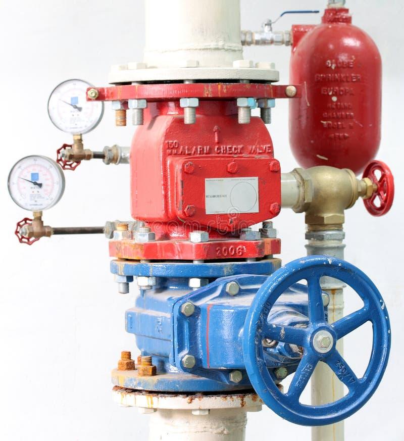 Fire Sprinkler Control System. Instalation royalty free stock image
