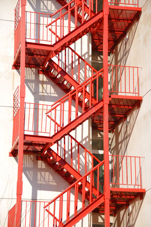 Fire stair royalty free stock photo
