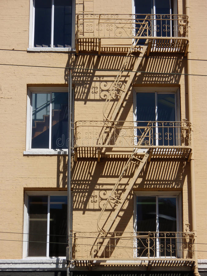 Fire stairs. In san francisco stock photos
