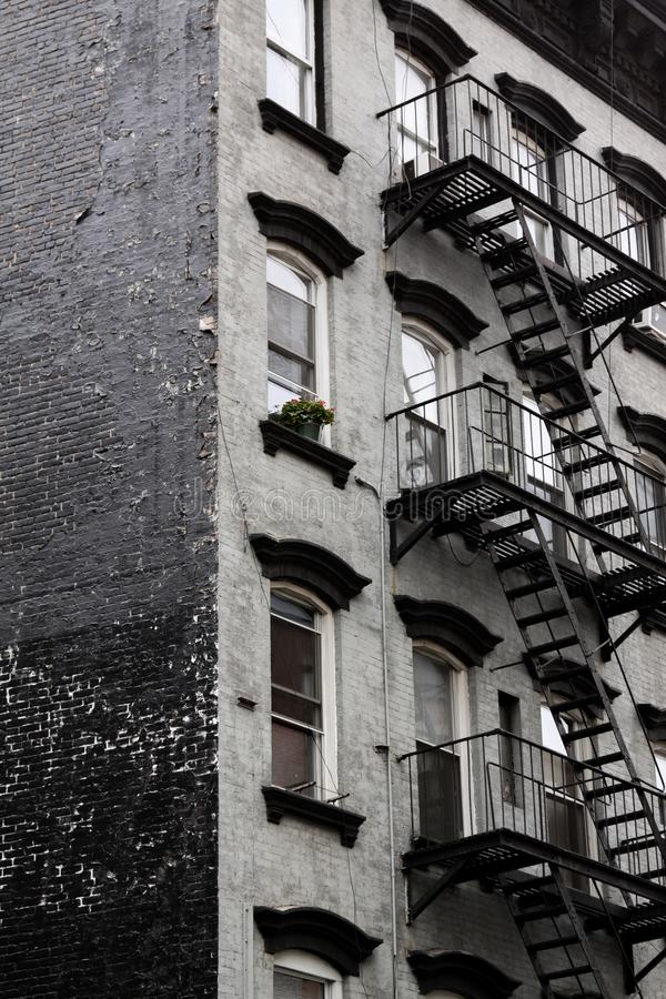 Fire stairs backyard royalty free stock photos