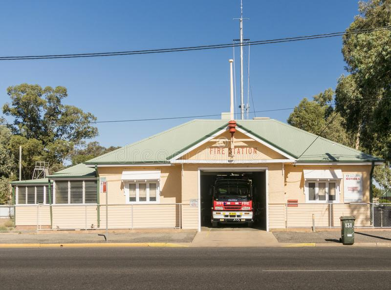 Fire Station and Engine royalty free stock photos