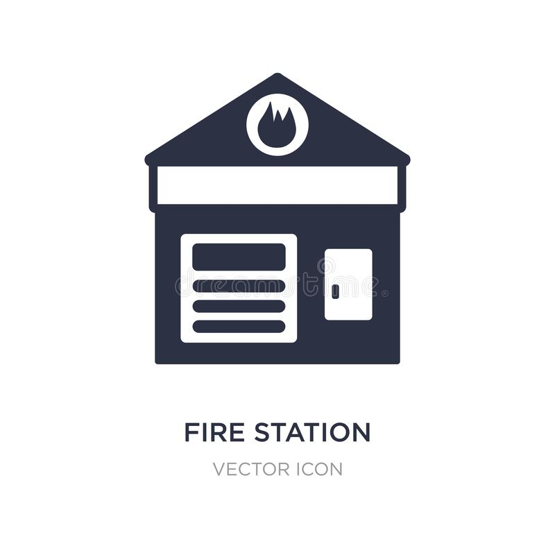 Fire station icon on white background. Simple element illustration from City elements concept. Fire station sign icon symbol design stock illustration