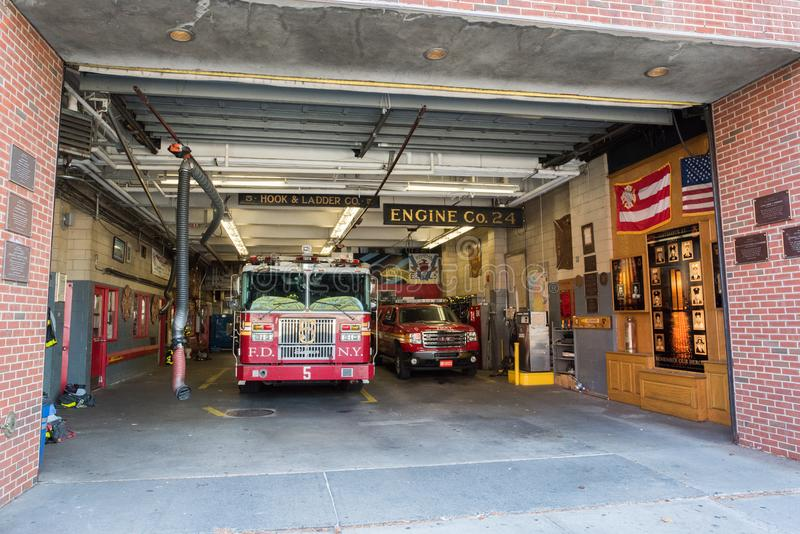 Fire Station in Manhattan, NYC. NYC, August 27, 2016: Fire station in Manhattan, New York City. The New York Fire Department is the second largest fire stock images