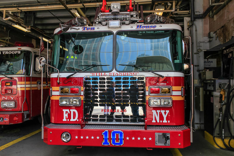 Fire station. In New York in the near Ground Zero royalty free stock image
