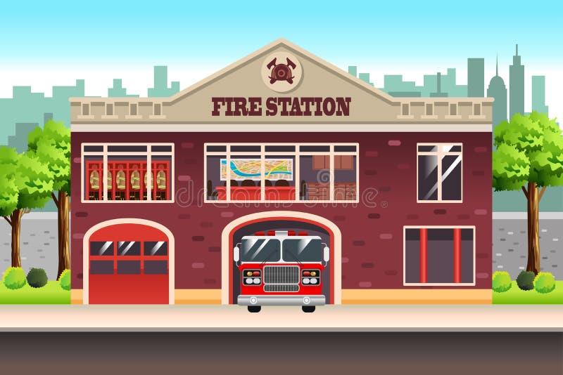 Fire Station. A vector illustration of Fire Station stock illustration