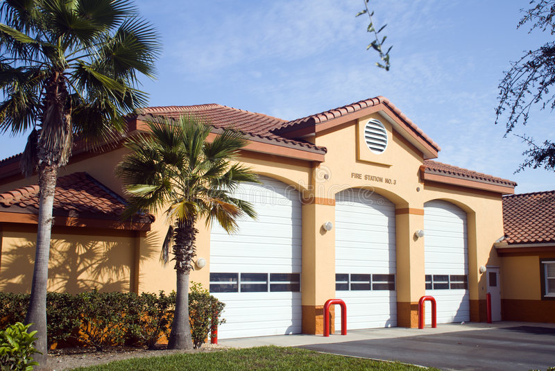 Fire Station4 stock photo