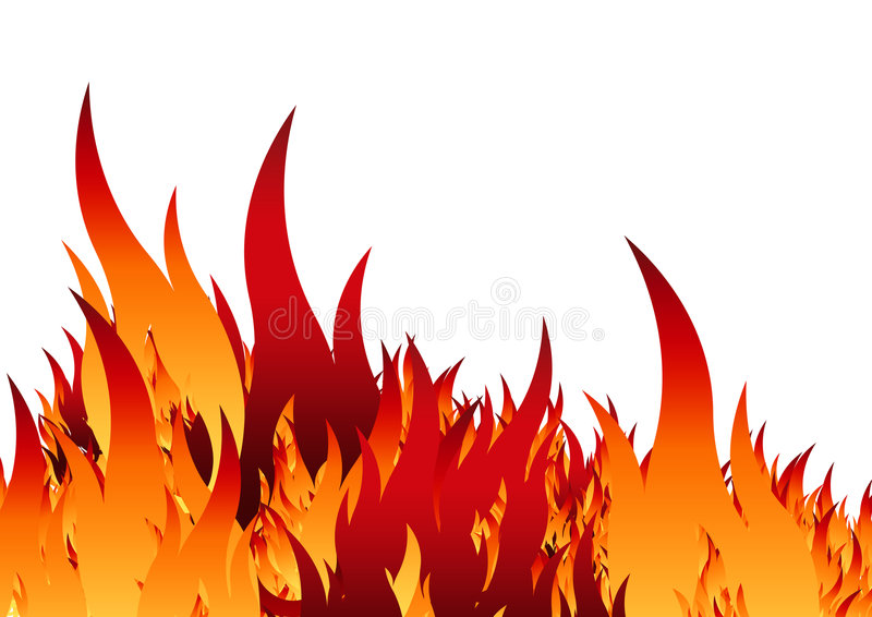 Fire Stencil Stock Image
