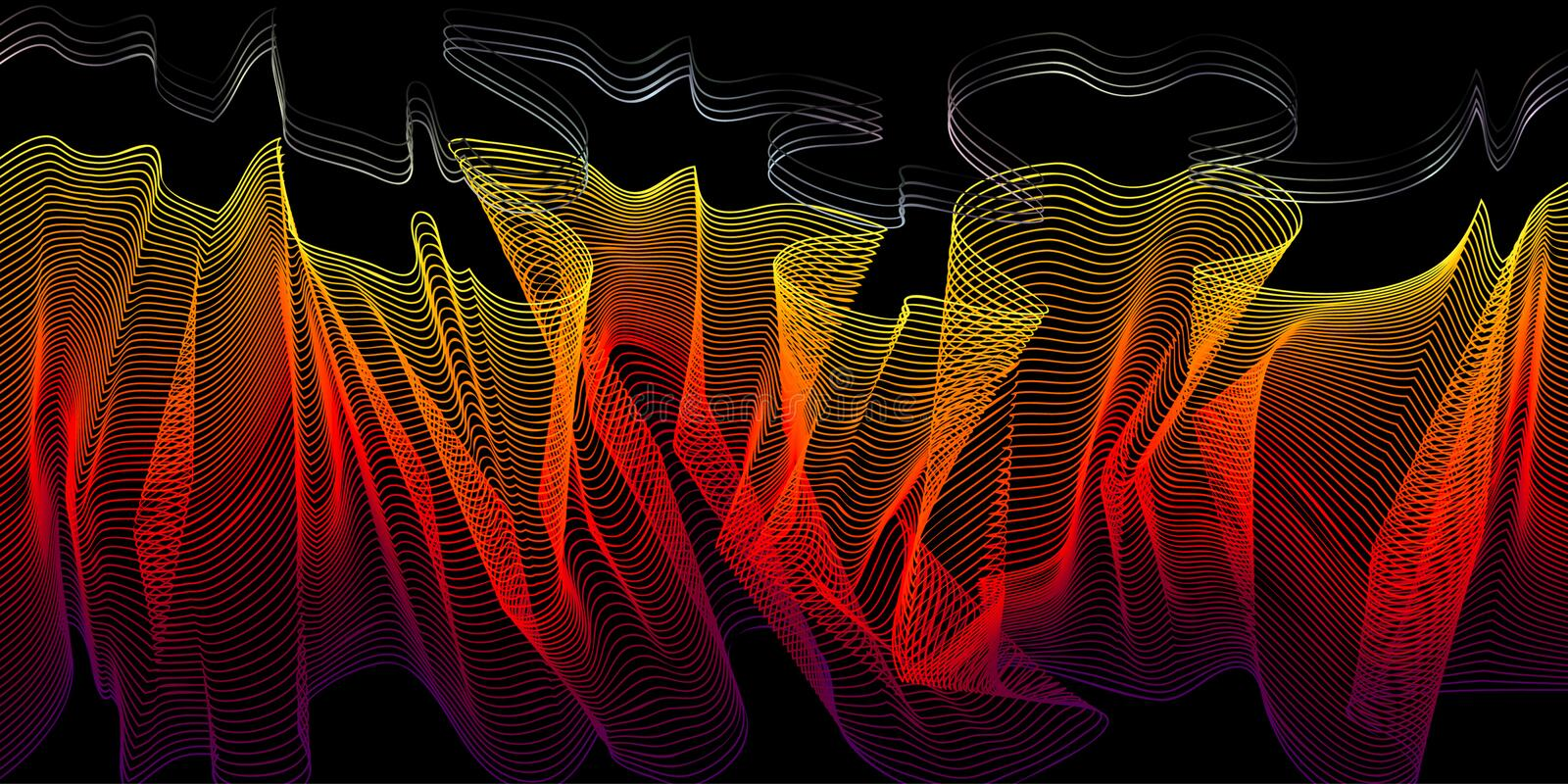 Download Fire-styled 3d Wireframe Blend Stock Vector - Illustration: 6829165