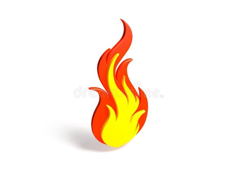 Fire symbol royalty free stock photo