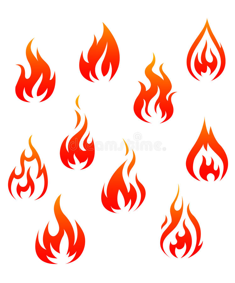 Fire Symbols Royalty Free Stock Image