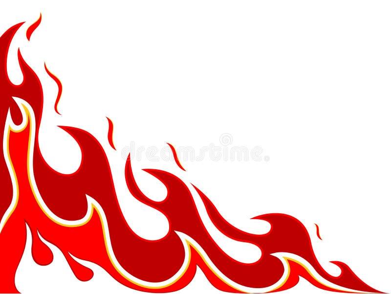 Fire tattoo vector illustration
