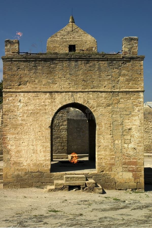 Fire temple. Surakhany, Azerbaijan. stock photo