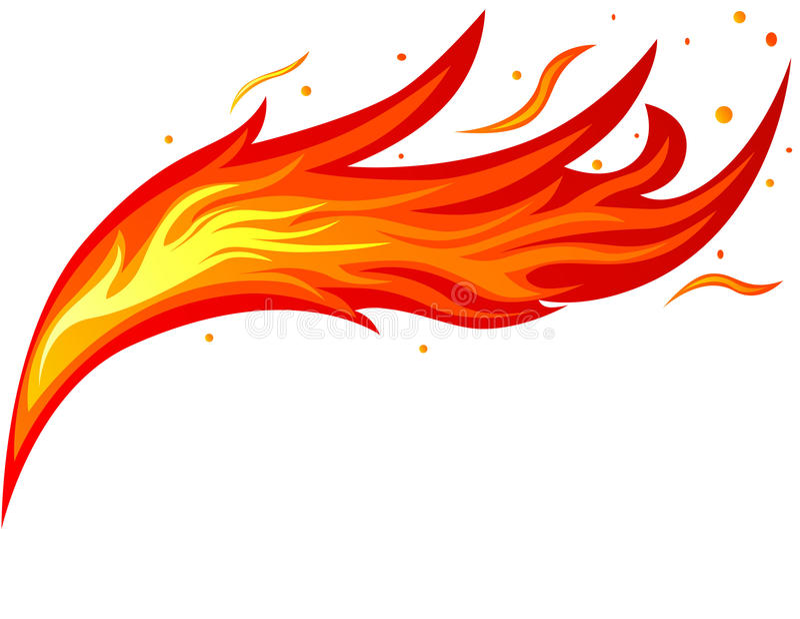 Fire tongue stock illustration