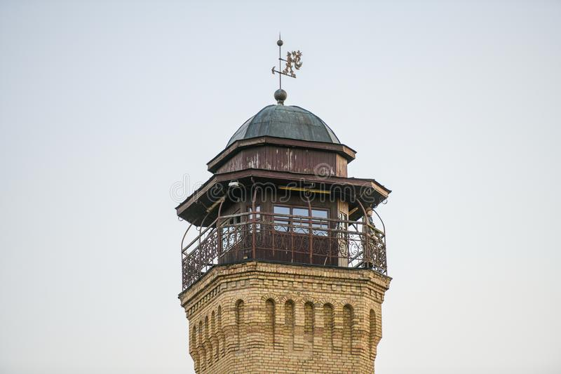Fire tower. Fire Tower in Lovasbereny,Hungary.The former Fire Tower a cultural centretoday stock image