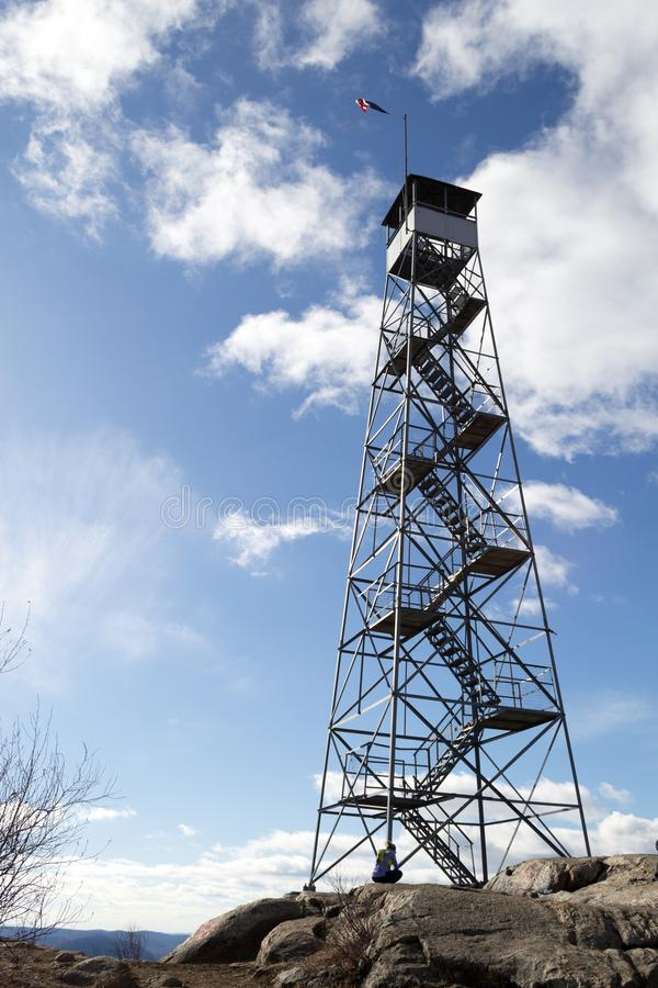 Fire tower at Mount Beacon stock image