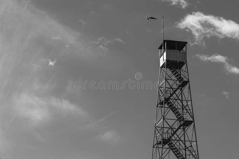 Fire tower at Mount Beacon. This fire tower in mount Beacon was restored and opened to the public in 2013 royalty free stock images