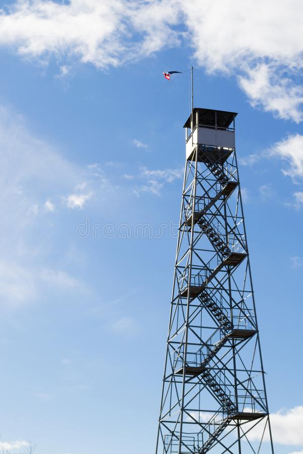 Fire tower at Mount Beacon. This fire tower in mount Beacon was restored and opened to the public in 2013 stock photos