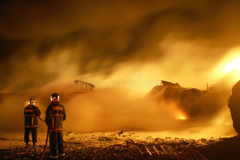 FIRE IN TRAIN royalty free stock photography