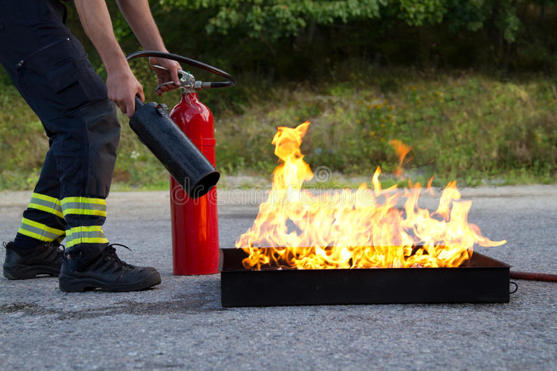 Fire training royalty free stock photo