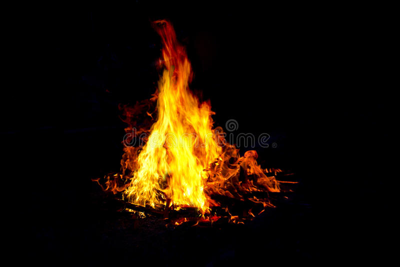 Fire with triangle. Burn fire with triangle shape, hot fire royalty free stock photos