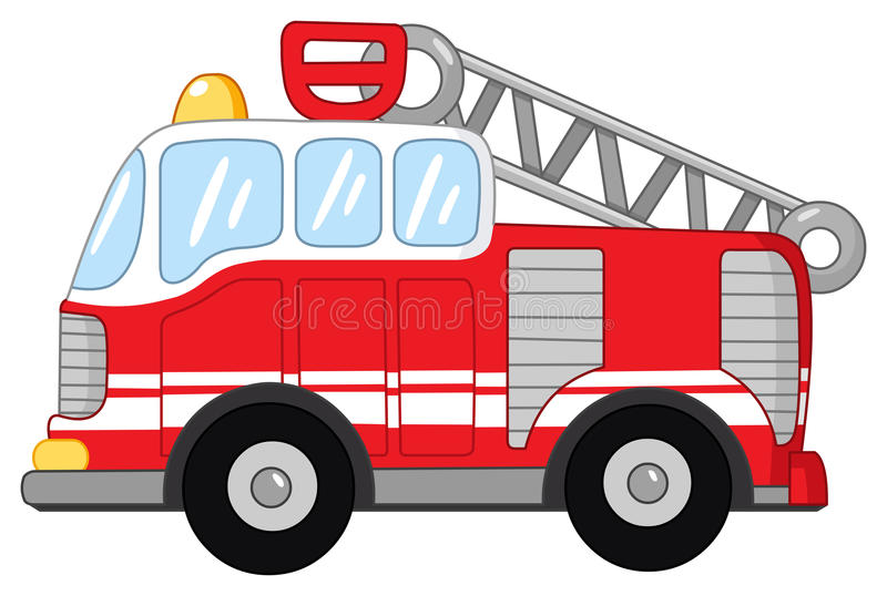 Fire truck. Illustration of a fire truck