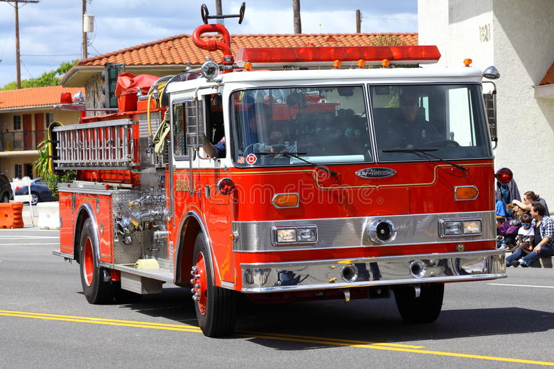 Download Fire Truck editorial stock image. Image of burbank, paramedic - 24387534