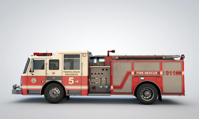 Fire truck. On white background royalty free stock photos