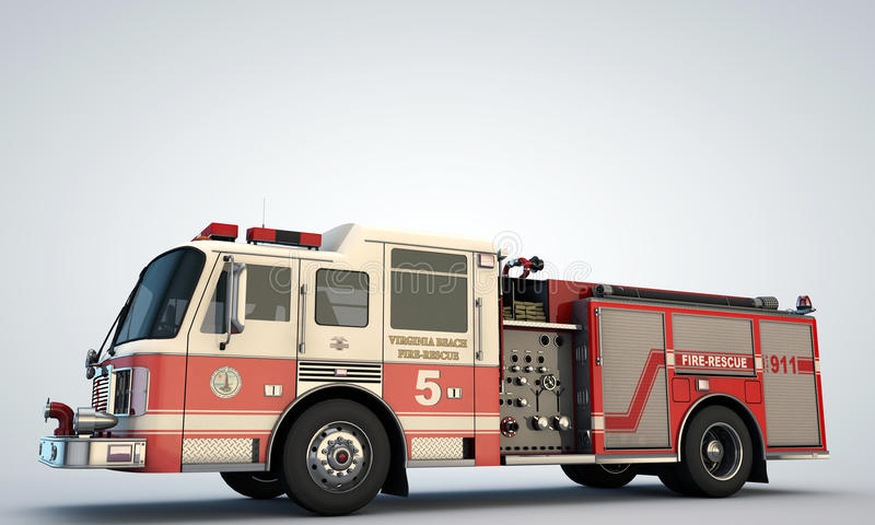 Fire truck. On white background royalty free stock images