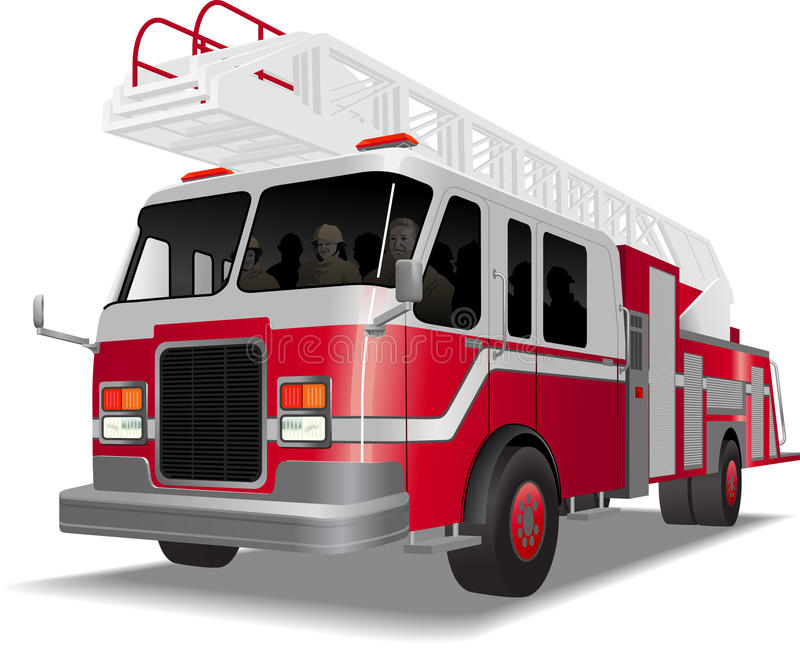 Fire_truck 向量例证