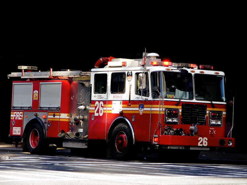 Fire Truck. Shot of a fire truck in New York royalty free stock photography