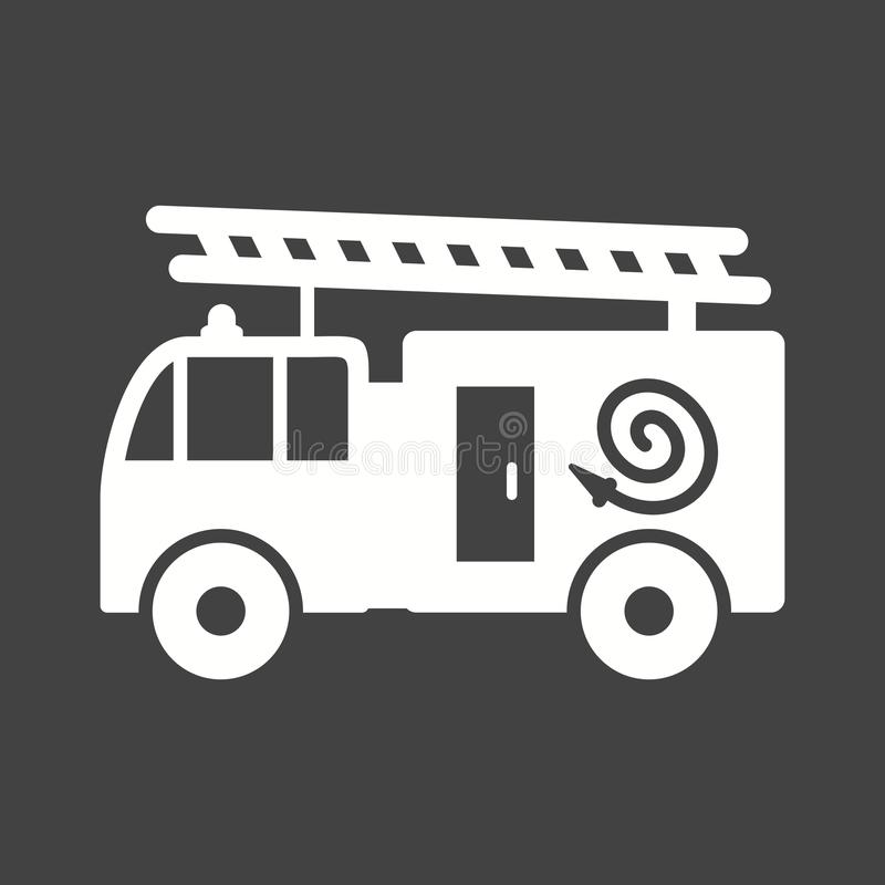 Fire Truck. Fire, brigade, truck icon vector image. Can also be used for firefighting. Suitable for web apps, mobile apps and print media royalty free illustration