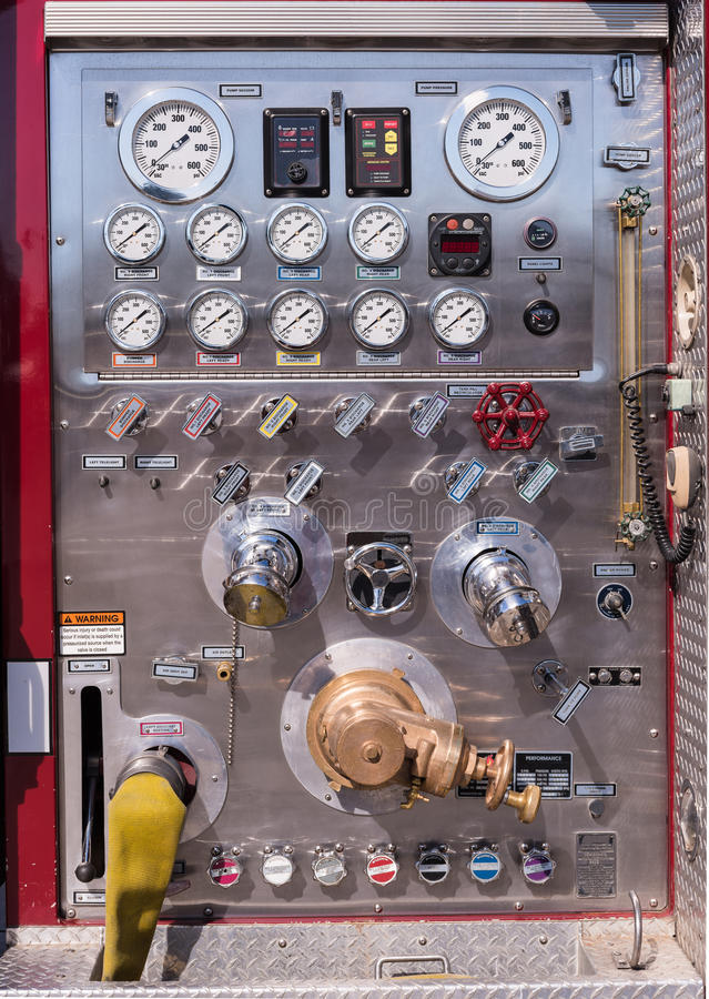 Free Fire Truck Chrome Control Panel Stock Photography - 50356142