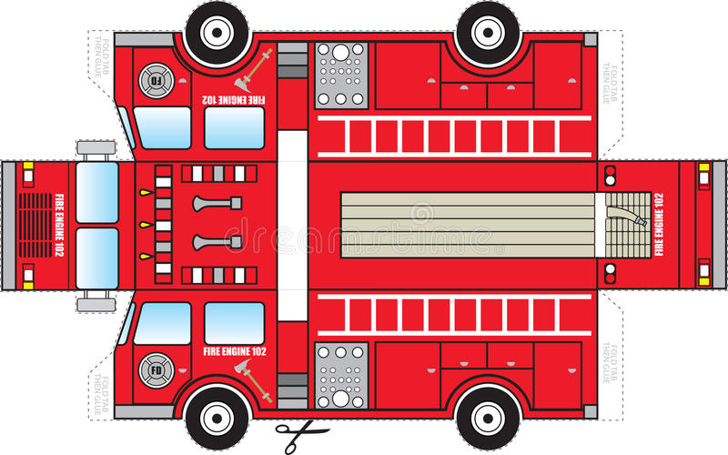 Fire Truck Cutout royalty free illustration