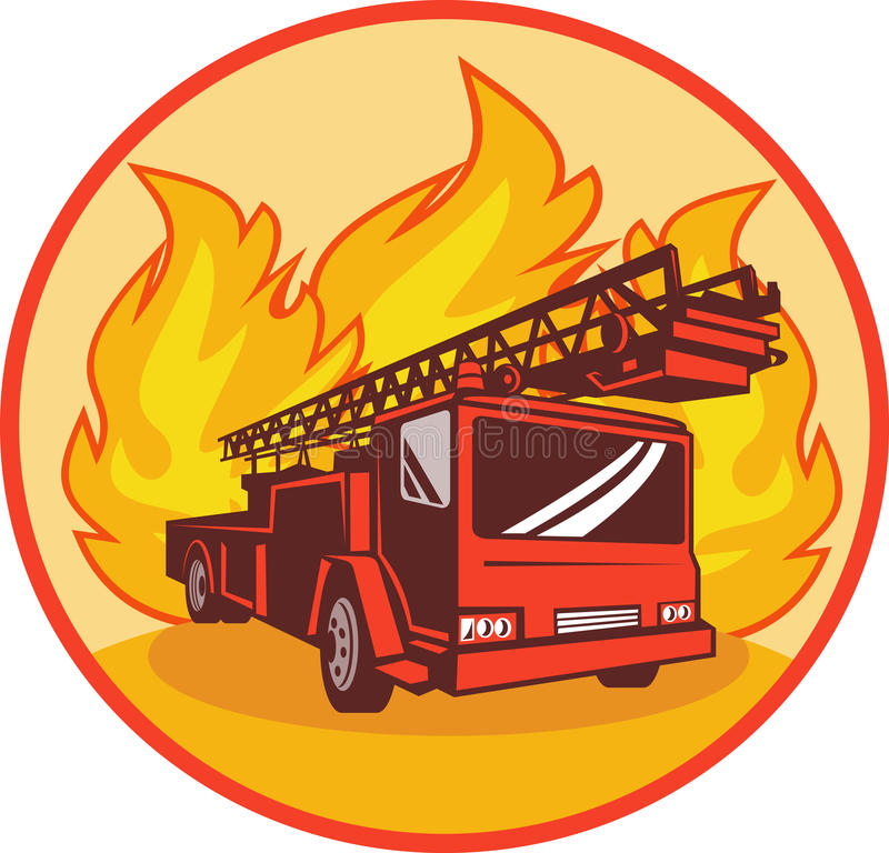 Fire truck or engine appliance royalty free illustration