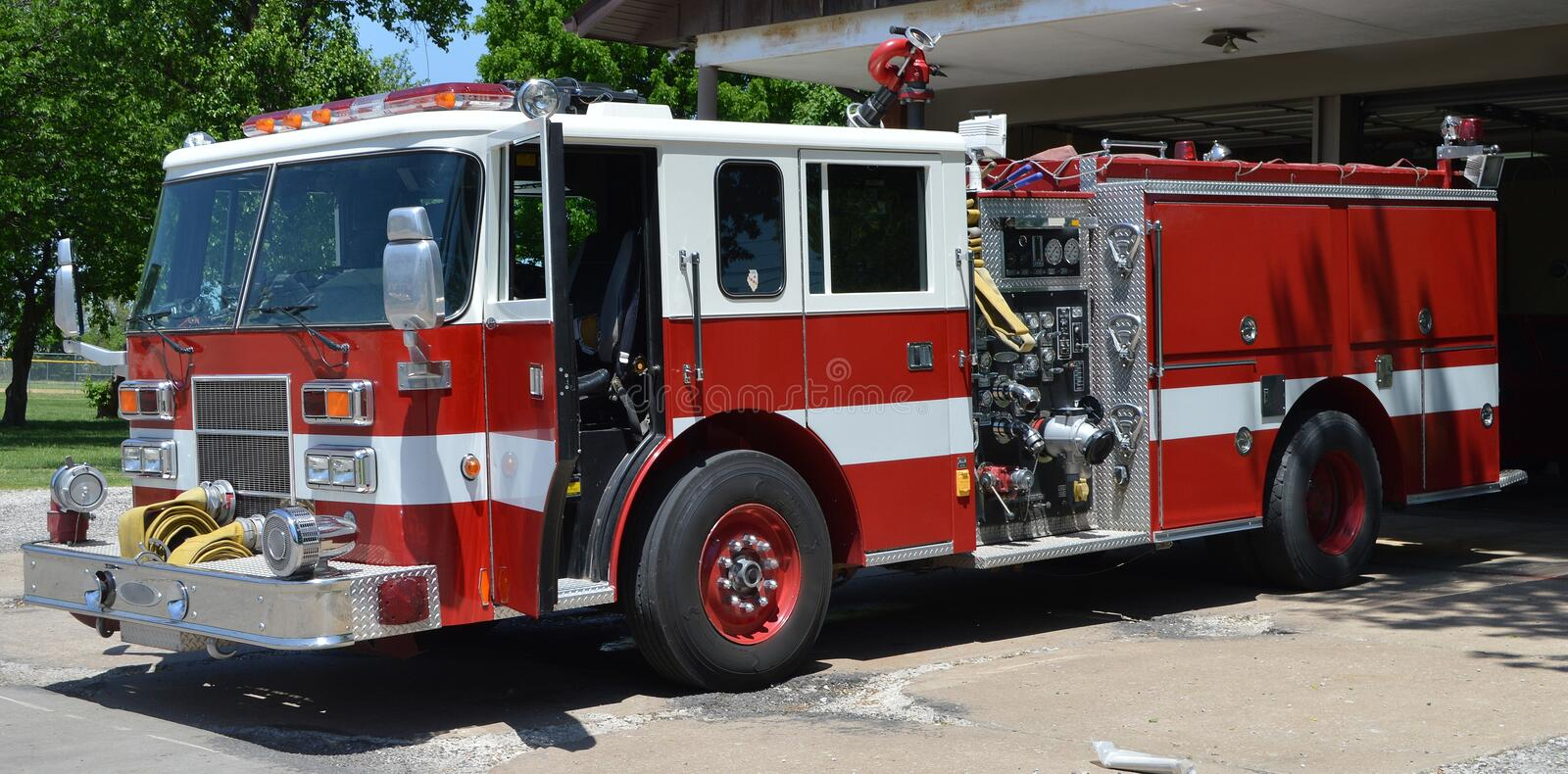 Fire Truck. In Granite City Illinois royalty free stock image