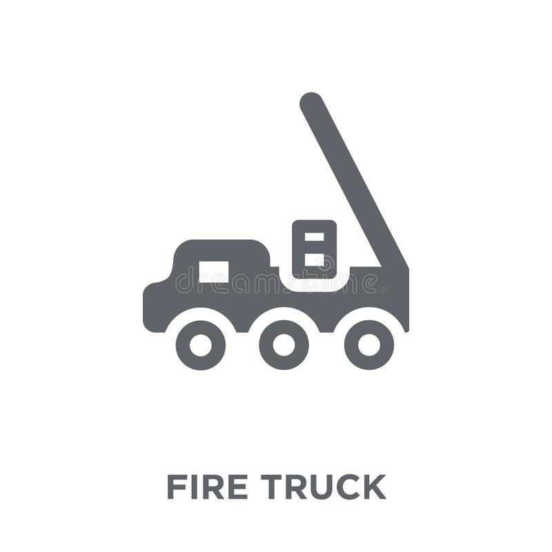 Fire truck icon from collection. Fire truck icon. Fire truck design concept from collection. Simple element vector illustration on white background stock illustration
