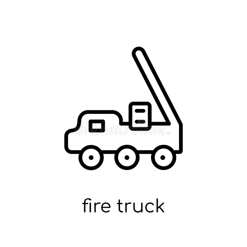Fire truck icon from collection. vector illustration