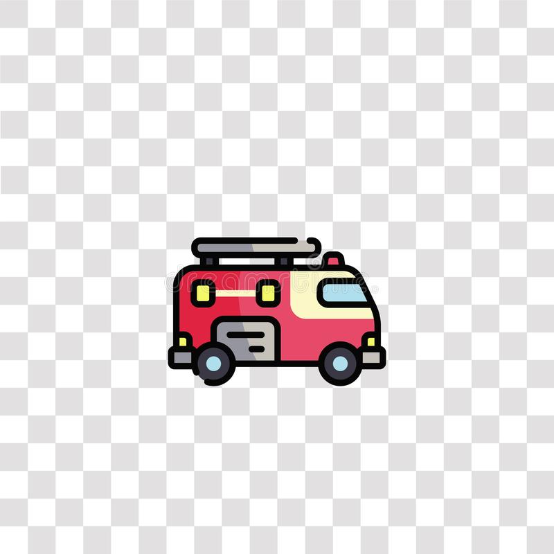 Fire truck icon sign and symbol. fire truck color icon for website design and mobile app development. Simple Element from. Firefighter collection isolated on royalty free illustration