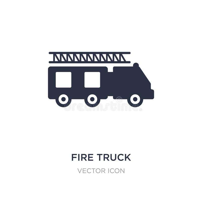 Fire truck icon on white background. Simple element illustration from City elements concept. Fire truck sign icon symbol design royalty free illustration