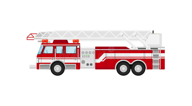 Fire truck isolated vector illustration royalty free illustration