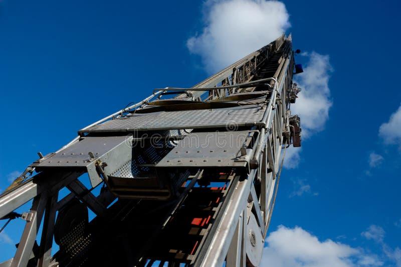 Fire Truck Ladder Stock Photo
