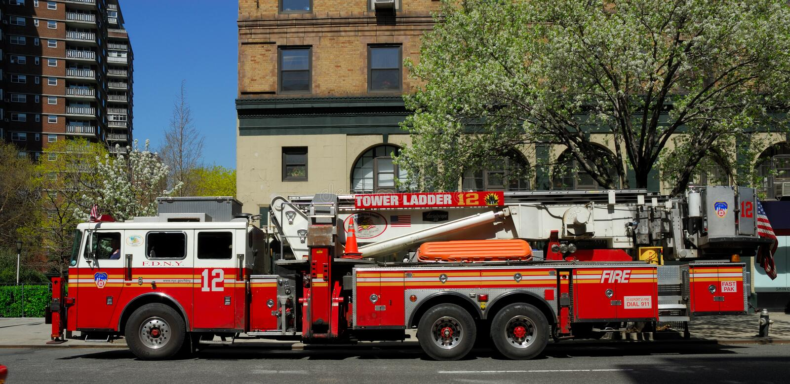 Fire truck in New York City. Photo taken at 17th of April 2008 royalty free stock photography