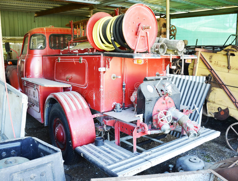 Fire Truck. An old NSW fire truck stock image