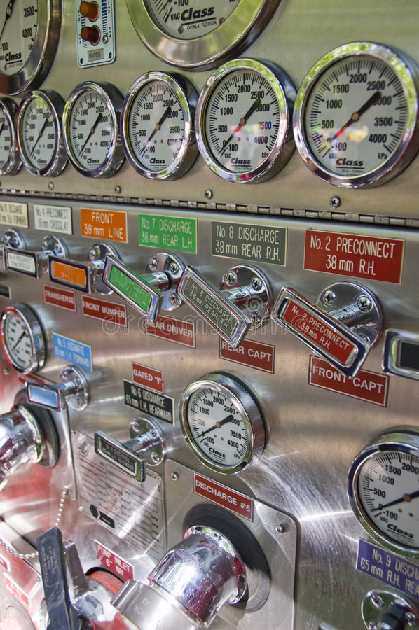Free Fire Truck Pump Control Stock Image - 5722271