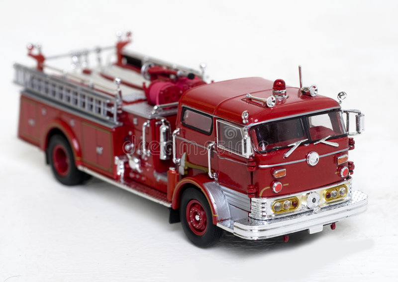Fire truck replica. A scale replica of a New York Fire Dept truck stock photography