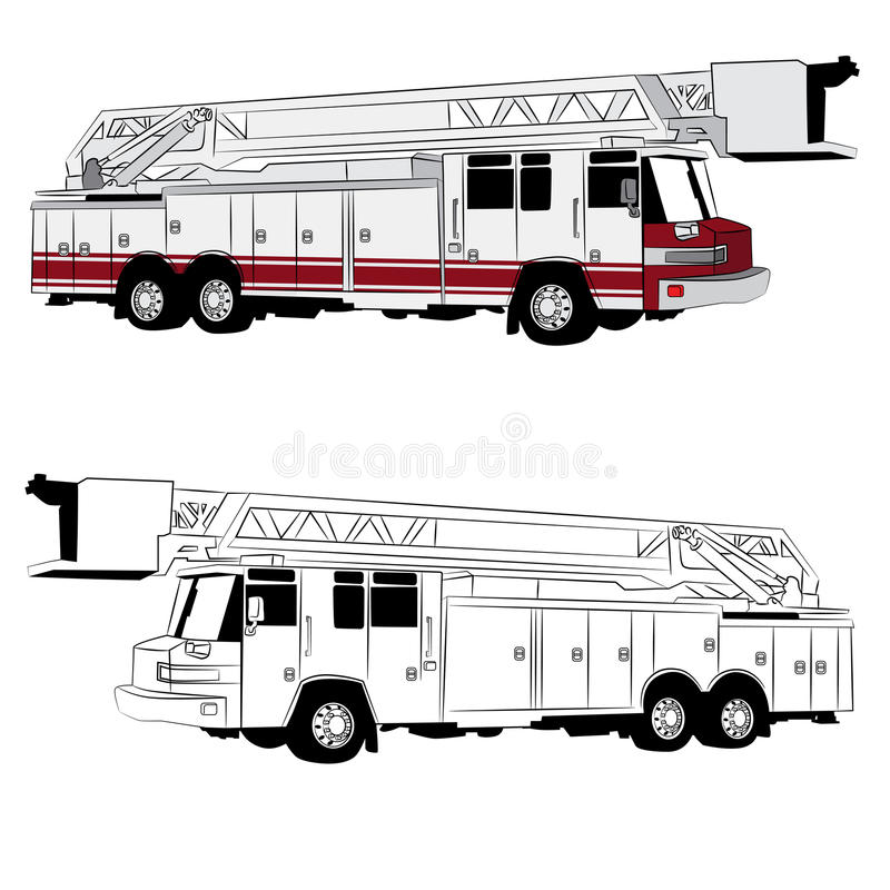 Fire Truck Vehicle vector illustration