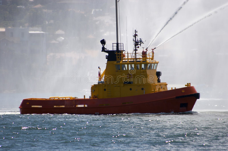 Download Fire Tug stock image. Image of jets, fire, bridge, ship - 285061