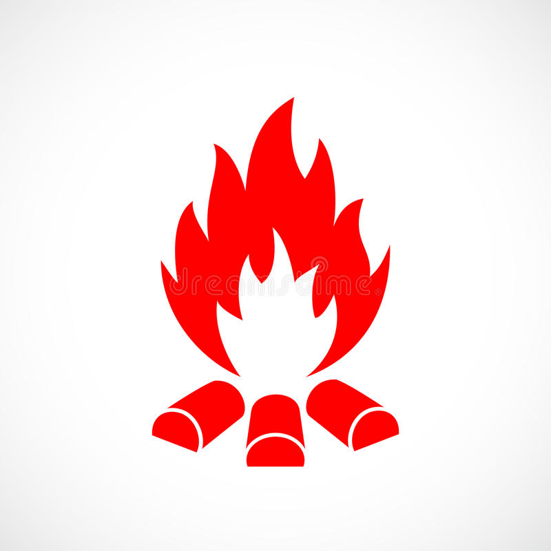 Fire vector symbol vector illustration