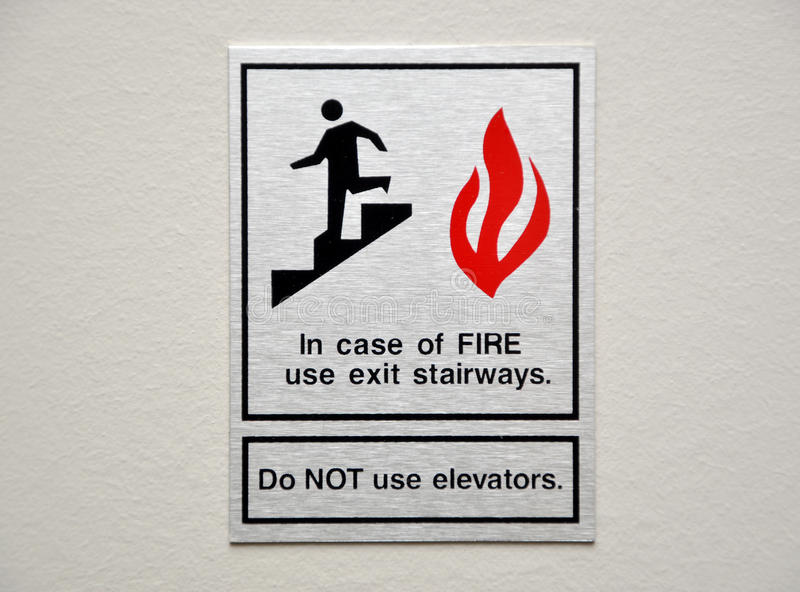 Fire warning sign stock photography